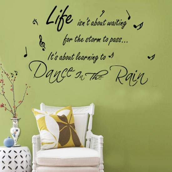 Dance In The Rain Quote Wall Wall Decal At Allposterscom