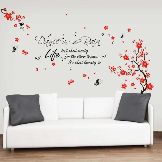 Blossom Flower With Dance In Rain Quote Wall Decal At Allposterscom