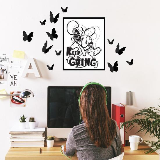3d butterfly wall stckers wall decors wall art wall.htm keep going frame with 3d butterflies  wall decal allposters com  keep going frame with 3d butterflies