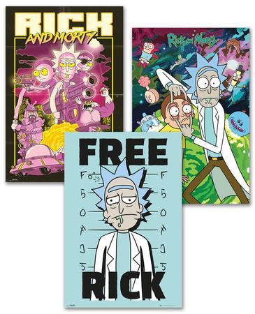 Rick and Morty Poster Set