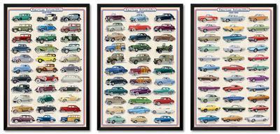 Vintage Cars Framed Poster Set