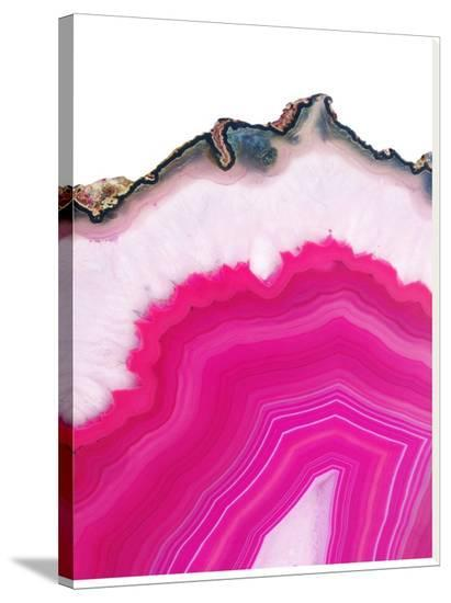 framed agate slices.htm pink agate slice stretched canvas print by emanuela carratoni at  pink agate slice stretched canvas print