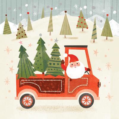 Santa Claus And Christmas Trees
