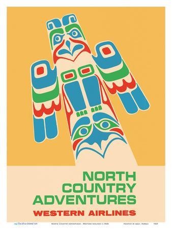 North Country Adventures - Pacific Northwest Totem Pole - Western Airlines