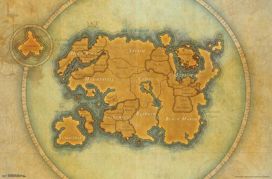 Elder Scrolls Online Map Poster At Allposters Com