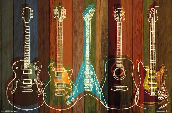 guitar wall decor.htm guitars wall of art  prints allposters com  guitars wall of art  prints