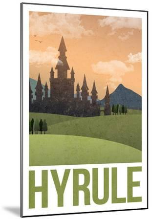 Hyrule Retro Travel Poster