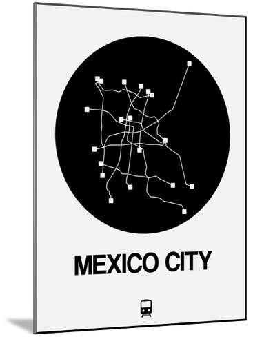Mexico City Black Subway Map Mounted Print By Naxart At Allposters Com