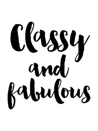 Classy Fabulous Black