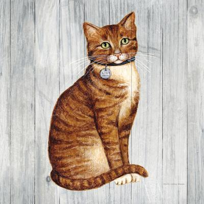 Country Kitty IV on Wood