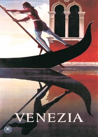 Gondoliere - Italian Vintage Style Travel Poster