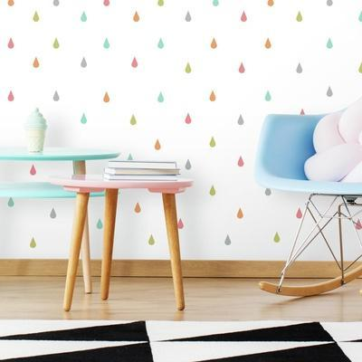 Pastel Raindrop Peel And Stick Wall Decals