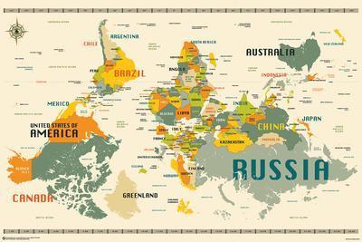 World Map Upside Down