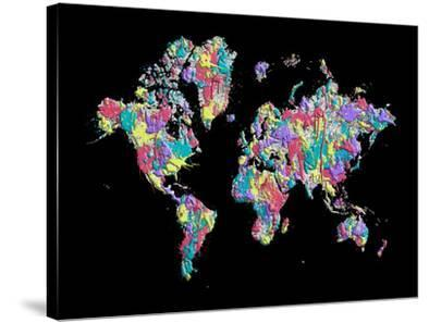 World Map Black Splashes