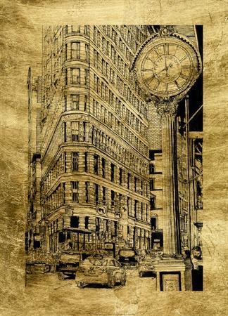 Gilded City Scene VII