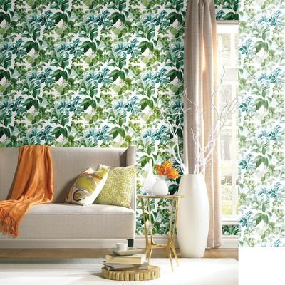 Green Rainforest Leaves Peel & Stick Wallpaper
