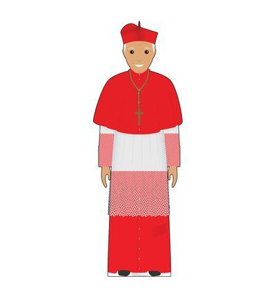 Pope Red Outfit (Illustrated)