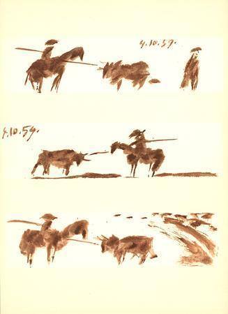Man on Horse vs Bull (1)