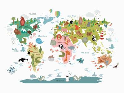Animals World Map