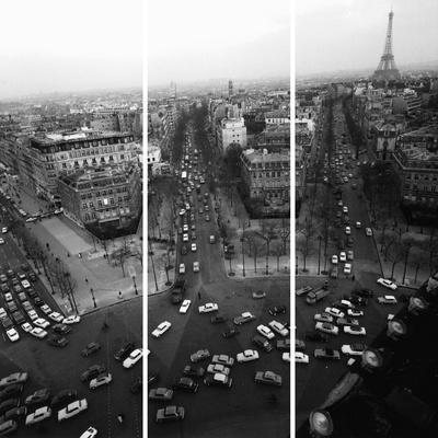 View From The Arc De Triomphe To The Place De L'Et