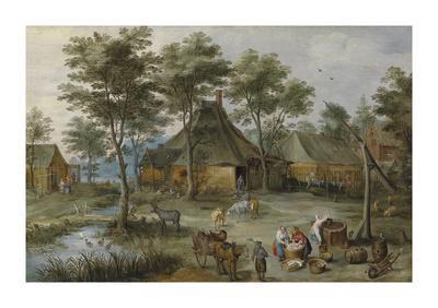 Village Scene at Ziehbrunnen