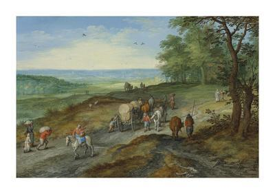 A Panoramic Landscape with a Covered Wagon