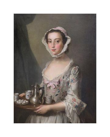 Girl with a Tray,  c.1750