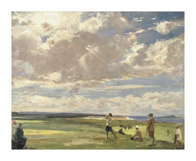 Lady Astor Playing Golf At North Berwick