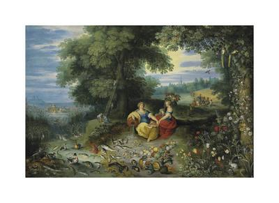 An Allegory of Water and Earth