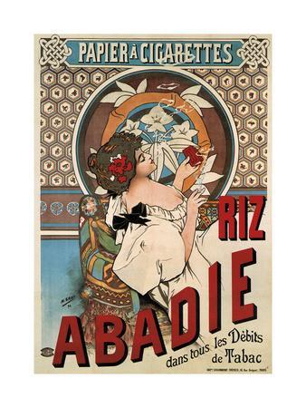 Riz Abadie Cigarette Rolling Paper, 1898