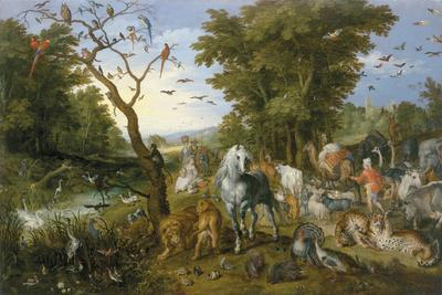 The Entry Of The Animals Into Noah'S Ark