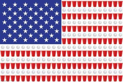 BEER PONG FLAG