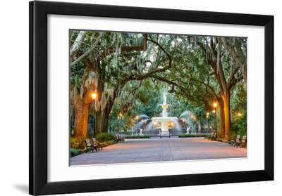 Savannah  Georgia  USA at Forsyth Park Fountain.