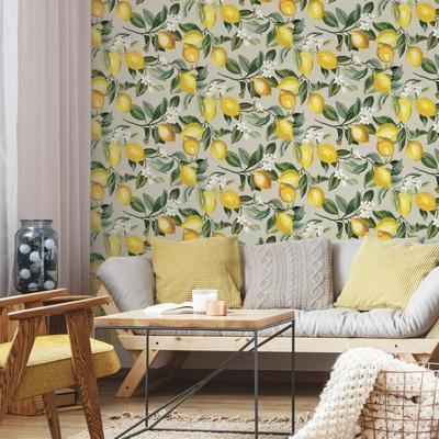 Lemon Zest Removable Wallpaper