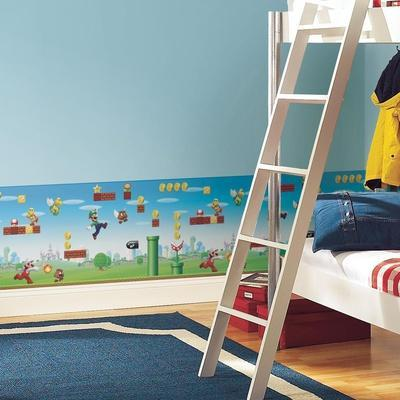 Mario Scene Removable Wallpaper Border