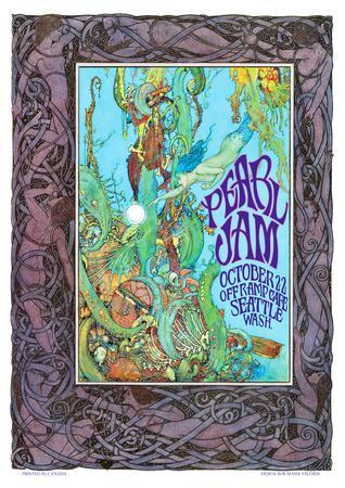 Pearl Jam concert poster, Seattle WA