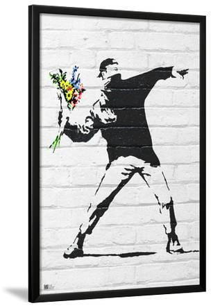 Banksy- Rage, Flower Thrower