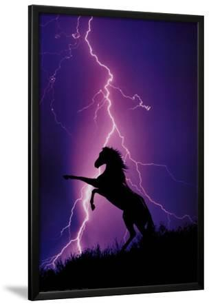 Lightning and Silhouette of Horse