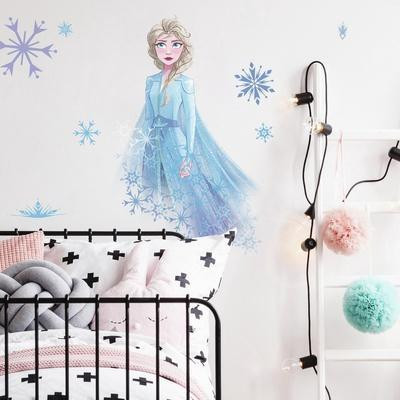 FROZEN II ELSA WITH SNOWFLAKES PEEL AND STICK GIANT WALL DECALS