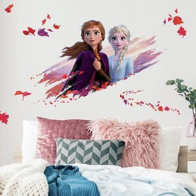 FROZEN II ELSA AND ANNA PEEL AND STICK GIANT WALL DECALS