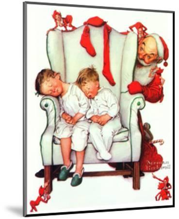 Santa Looking at Two Sleeping Children (or Santa Filling the Stockings)