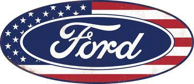 American Ford Tin Sign
