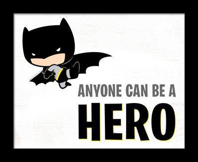 Batman - Anyone Can Be A Hero Deep Framed MDF Sign