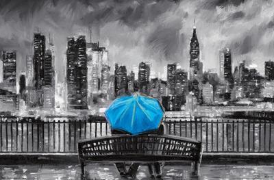 PD Moreno: Fine Art - Blue Umbrella