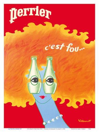 It's Crazy (C'est Fou Eyes) - Perrier Sparkling Water
