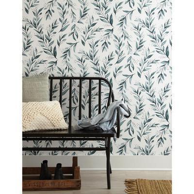 Magnolia Home Olive Branch Removable Wallpaper