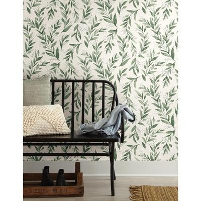 Magnolia Home Olive Branch Removable Wallpaper