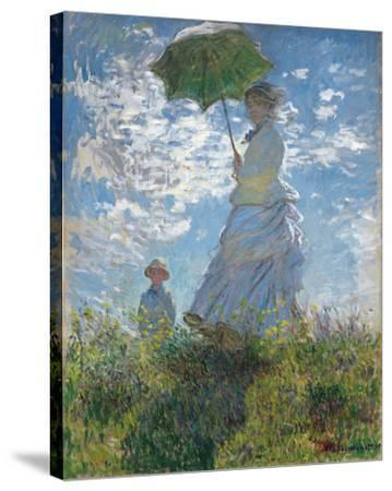 Woman with a Parasol - Madame Monet and Her Son, 1875