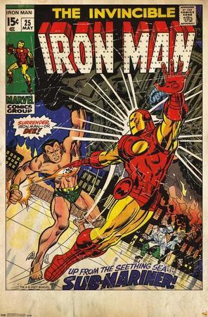 24X36 Marvel Comics - Iron Man - Cover #25