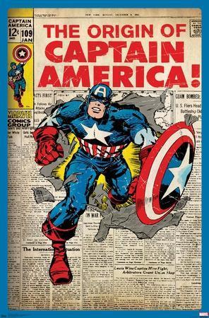 24X36 Marvel Comics - Captain America - The Original